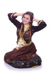 Young lady dancing traditional azeri dance