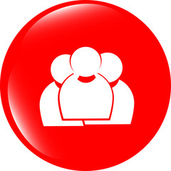 business man silhouette set icon web app button