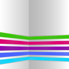 Abstract color corner stripes design template.