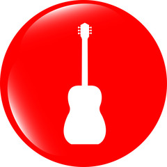 Guitar - icon button isolated