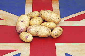 potatoes and union jack