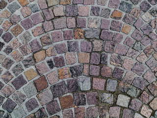 Cobblestone urban paving