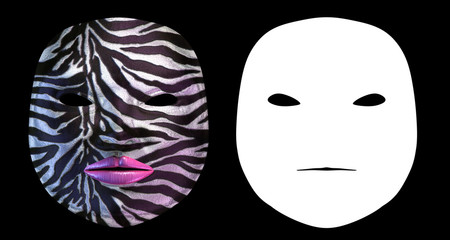 Zebra Harlequin Mask