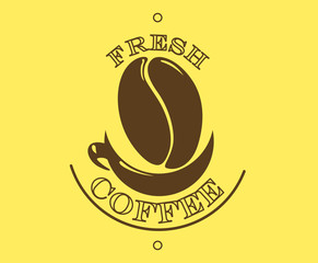 Fresh coffee poster or banner
