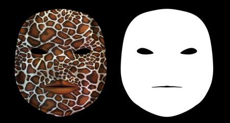 Giraffe Harlequin Mask