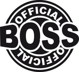 Official Boss Stempel Abdruck Rund
