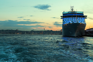 cruise ship Bosporus, Turkey.