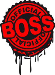 Official Boss Stempel Abdruck Graffiti