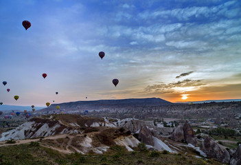 air balloon flying Cappadocia
