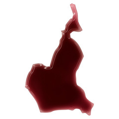 A pool of blood (or wine) that formed the shape of Cameroon. (se