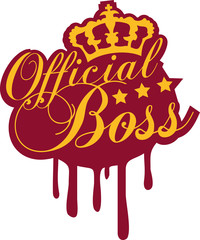 Cool Official Boss King Graffiti
