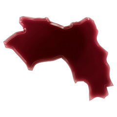 A pool of blood (or wine) that formed the shape of Guinea. (seri