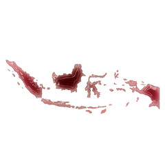 A pool of blood (or wine) that formed the shape of Indonesia. (s