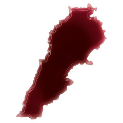 A pool of blood (or wine) that formed the shape of Lebanon. (ser