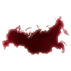 A pool of blood (or wine) that formed the shape of Russia. (seri