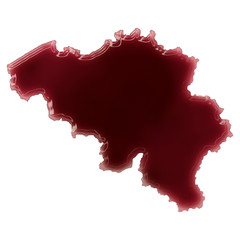 A pool of blood (or wine) that formed the shape of Belgium. (ser