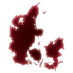 A pool of blood (or wine) that formed the shape of Denmark. (ser
