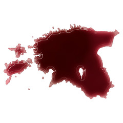 A pool of blood (or wine) that formed the shape of Estonia. (ser