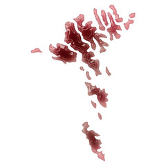 A pool of blood (or wine) that formed the shape of Faroe Islands