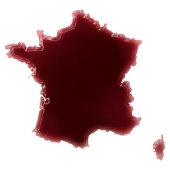A pool of blood (or wine) that formed the shape of France. (seri