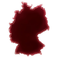 A pool of blood (or wine) that formed the shape of Germany. (ser