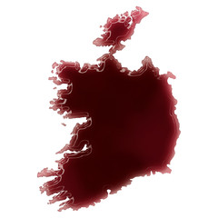 A pool of blood (or wine) that formed the shape of Ireland. (ser