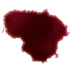 A pool of blood (or wine) that formed the shape of Lithuania. (s