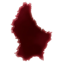 A pool of blood (or wine) that formed the shape of Luxembourg. (