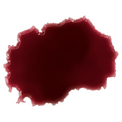 A pool of blood (or wine) that formed the shape of Macedonia. (s