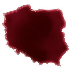 A pool of blood (or wine) that formed the shape of Poland. (seri