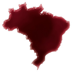 A pool of blood (or wine) that formed the shape of Brazil. (seri