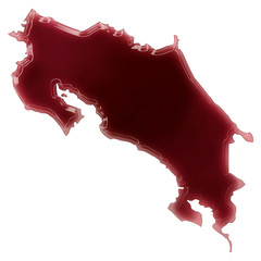 A pool of blood (or wine) that formed the shape of Costa Rica. (