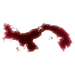 A pool of blood (or wine) that formed the shape of Panama. (seri