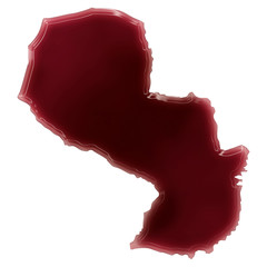 A pool of blood (or wine) that formed the shape of Paraguay. (se