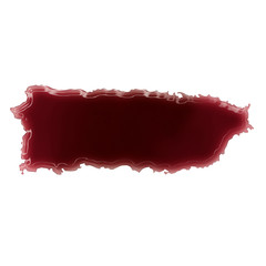 A pool of blood (or wine) that formed the shape of Puerto Rico.