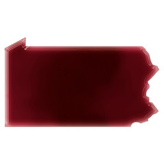 A pool of blood (or wine) that formed the shape of Pennsylvania.