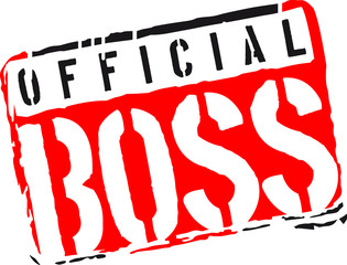 Cool Official Boss Graffiti Stamp Design