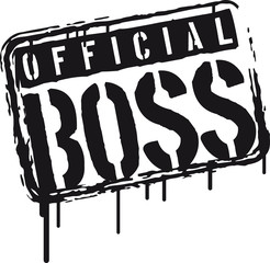 Cool Official Boss Graffiti Stamp