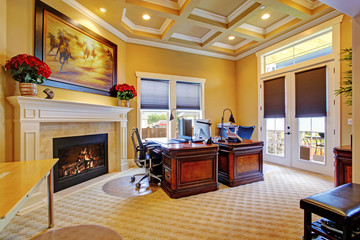 Luxury office room interior