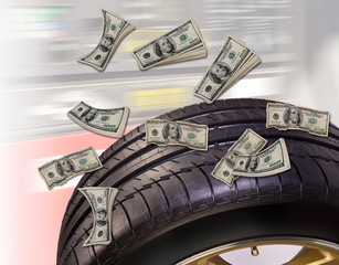 Money and Tires.