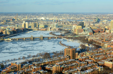 Boston Longfellow Bridge across Charles River