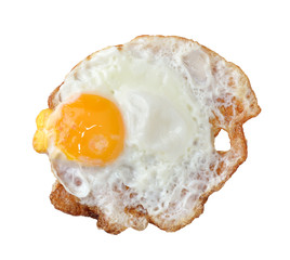 close up shot of a fried egg