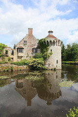 beautiful castle and reflection in Kent, England