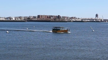 A tour boat in Boston Harbor, Massachusetts