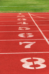 Numbers on the track