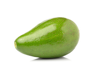 fresh avocado isolated on white background