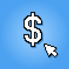 pixelated dollar sign