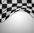 Leinwanddruck Bild - Checkered flag