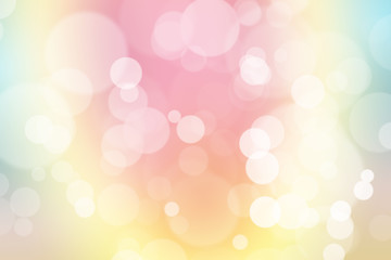 green, blue and pink pastel colorful background. bokeh blurred l