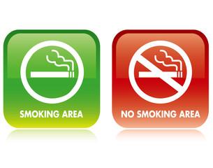 No smoking and Smoking area Vector
